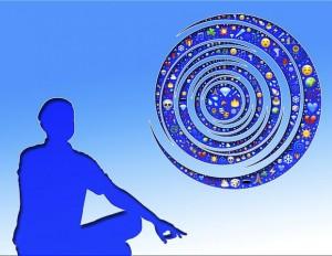 Meditating person