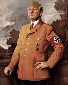 Trump in Hitler posture